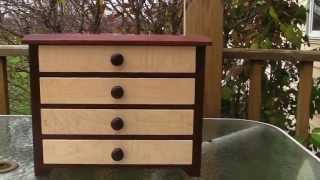 Shaker Jewelry Cabinet - Cherry & Maple