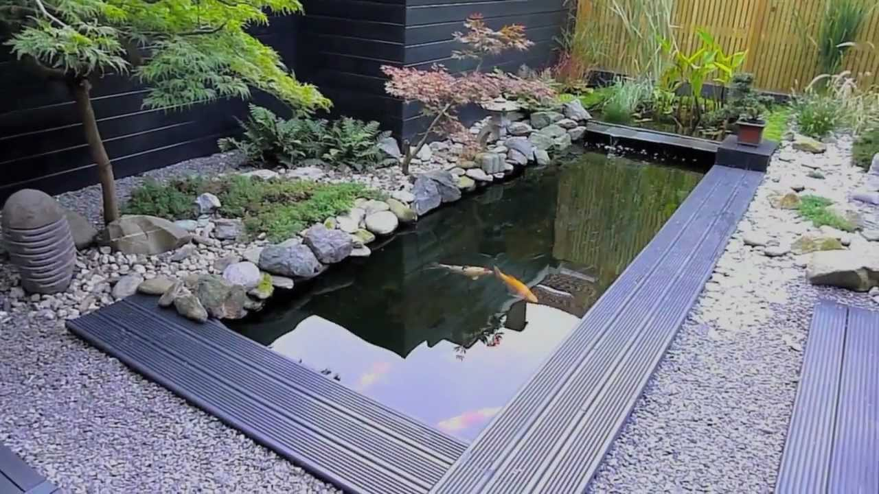 Koi vijver in japanse tuin youtube for Kunststof vijvers