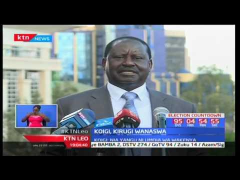 Koigi wa Wamwere  na Kirugi M'Mukindia waasi chama cha Jubilee na kujiunga na NASA