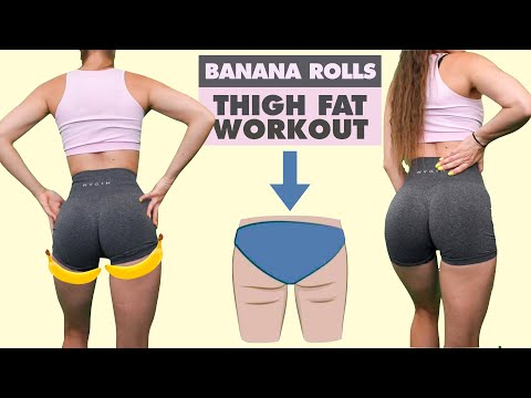 Get Rid Of BANANA ROLLS | UNDER BUTT FAT Workout | Do This To Reduce Thigh Fat