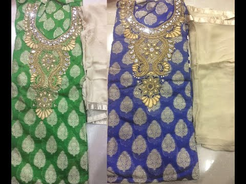BEAUTIFUL & DESIGNER UNSTITCHED CHURIDAR MATERIAL || Unstitched Salwar Suits Designs