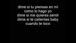 Nicky Jam -  Dime si tu piensas en mi ( Con letra )
