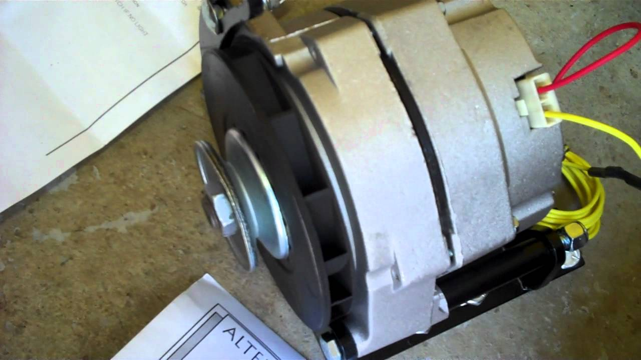 medium resolution of chevy 235 alternator setup