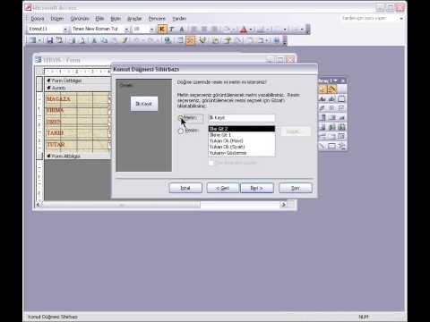Access Forma Kayıt Düzenleme Düğmeleri Ekleme İlk Kayıt Düğmesi
