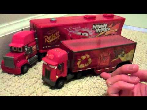 Disney Cars Jerry Recycled Batteries Peterbilt Semi Truck Toy