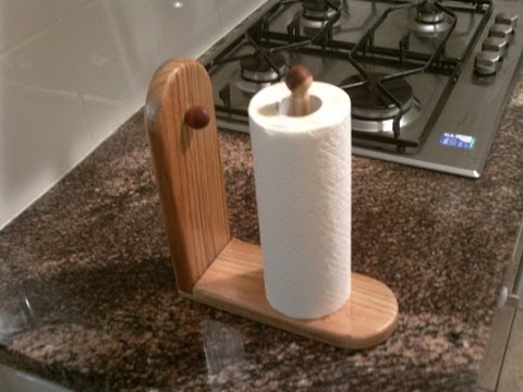 make a paper towel holder for your kitchen