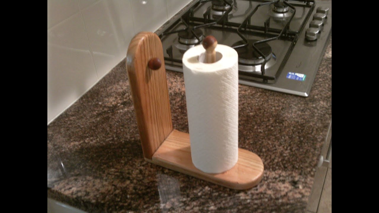 Kitchen Towel Holder Make A Paper Towel Holder For Your Kitchen Youtube