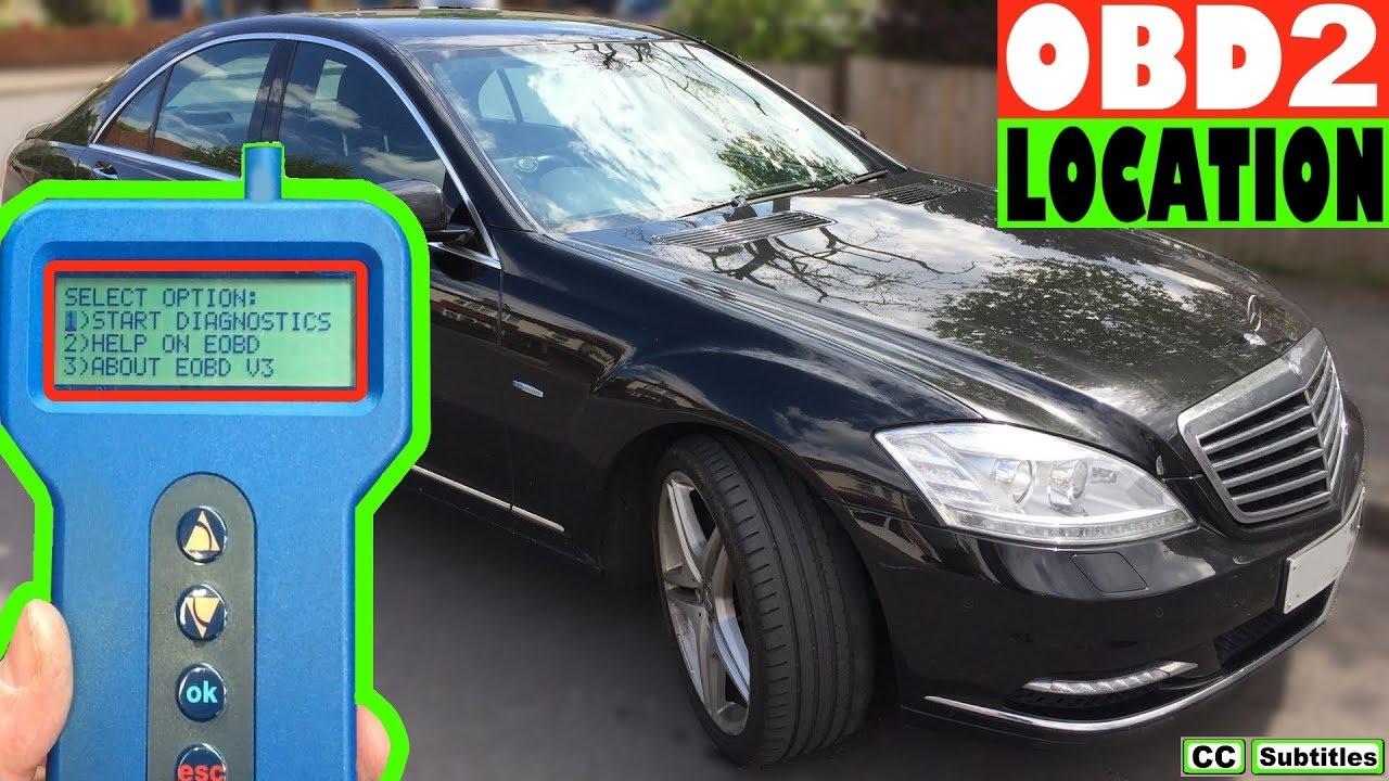 Mercedes S-Class OBD2 Diagnostic Port Location