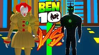 BEN 10 ALIEN X VS PENNYWISE Roblox Ben 10 Ankunft von Aliens