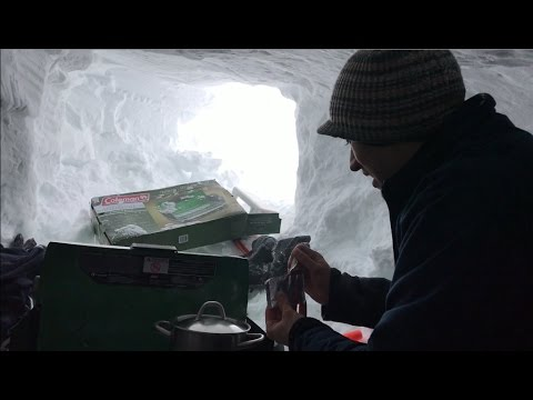 how to build a snow cave youtube