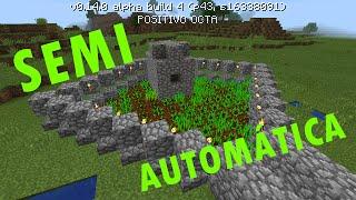 #4 Plantaц§цёo semi-automцЎtica-Minecraft PE 0.14.0