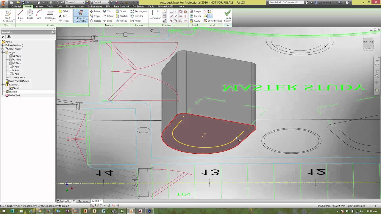 autodesk inventor 2016 anycad dwg underlay youtube. Black Bedroom Furniture Sets. Home Design Ideas
