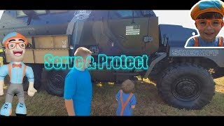 Serve and Protect Sheriff Vehicles for Toddlers Babies Kids with Blippi Toy and Jonathan