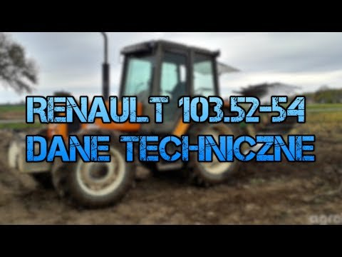 Renault 103.52-54 Tx Dane Techniczne