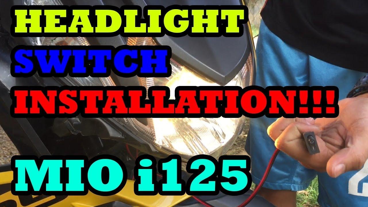Headlight Switch Installation on Mio i 125 on