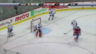 P.K. Subban goal, Slap, Off. Zone, 29 ft, on Corey Crawford (2011-04-05)