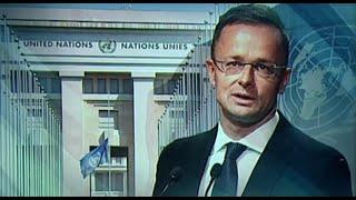Szijjártó Péter az ENSZ-közgyűlésen a migráció veszélyeiről beszélt