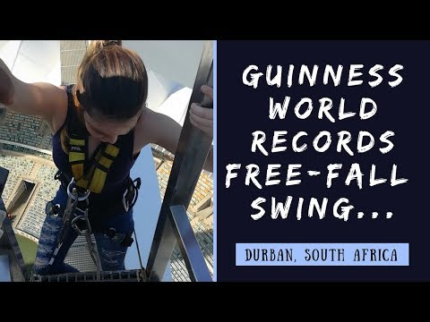 Guinness world records free-fall swing: Big Rush Durban