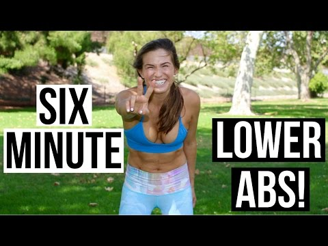 6 MINUTE INTENSE LOWER AB WORKOUT!