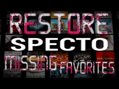 specto missing favorites