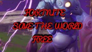 I GOT FORTNITE SAVE THE WORLD FREE WHATTTTTTT