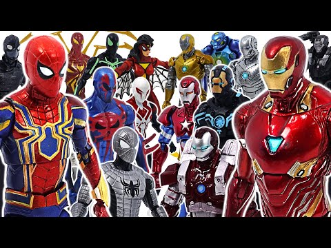 Marvel Iron Man Suit Army VS Ultimate Spider-Man Team Battle! | DuDuPopTOY