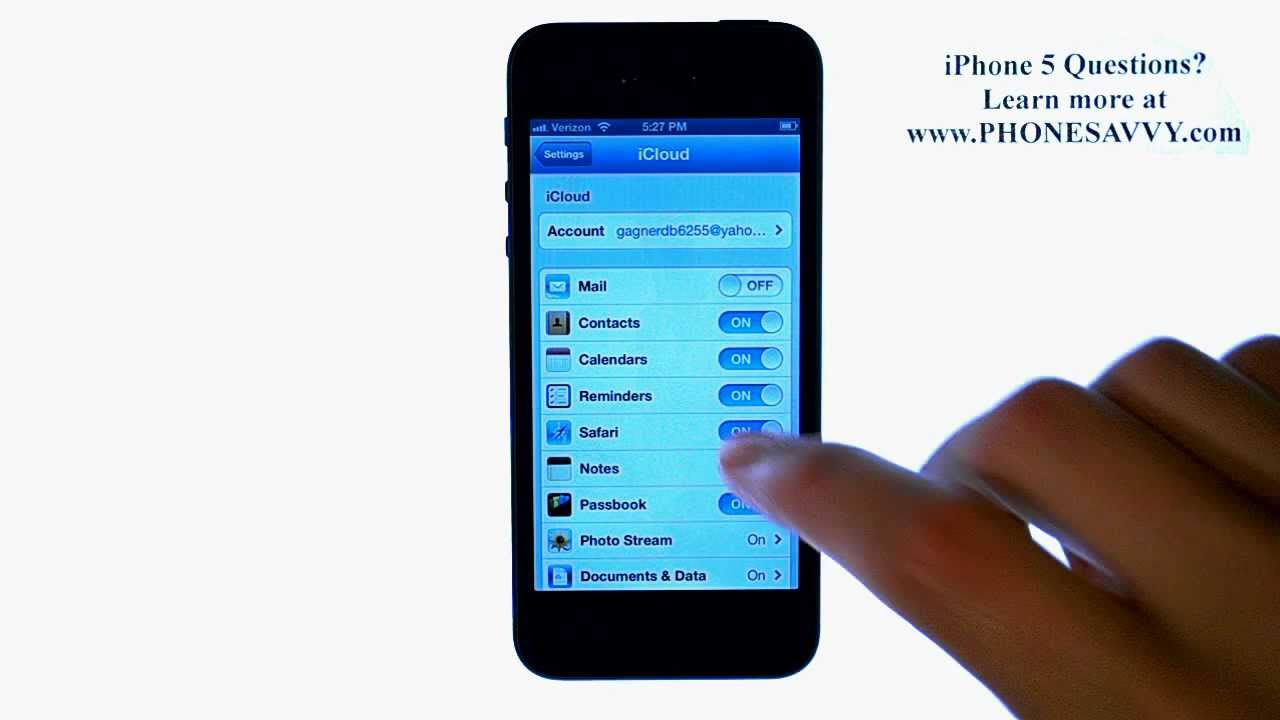 how to backup iphone contacts to icloud apple iphone 5 ios6 how to backup contacts to icloud 19840