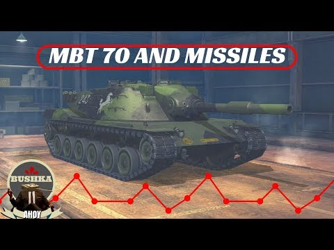 DRIVING THE KPFPZ-70 MBT and the Rocket Tank of Tier 7! World of Tanks Blitz