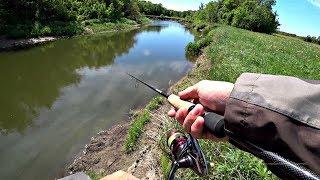Рыбалка на красивой речке. Ловля на спиннинг весной.
