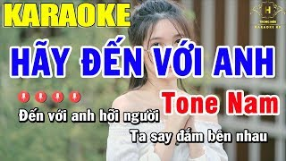 Karaoke Hãy Đến Với Anh Tone Nam Nhạc Sống   Trọng Hiếu