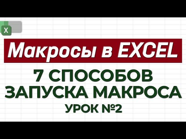 Урок 2. Макросы. 7 Способов запуска макроса. Академия Excel