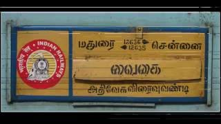 INDIAN RAILWAYS : 12635 VAIGAI EXPRESS Journey Compilation - Crossings And Overtakes