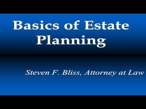 Basics of Estate Planning