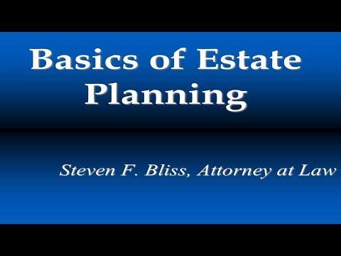 Basics of Estate Planning