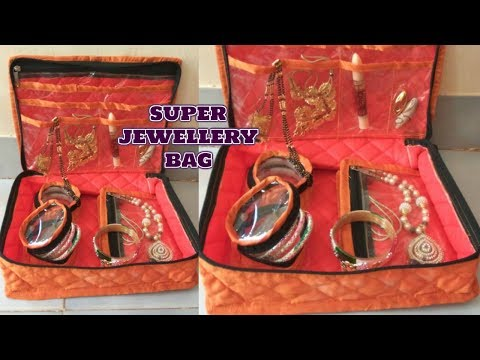 super jewellery bag /makeup bag make at home diy