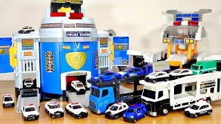 パトカートミカを一気に出動!ぐるっと変形!DXポリスステーション トミカ警察署が音声サイレンと一緒に回転、緊急手動モードに!キャリアカーセットやデカパトロールカーと相性も抜群☆