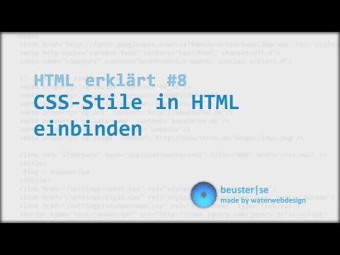 HTML Erklärt #8 CSS-Stile In HTML Einbinden