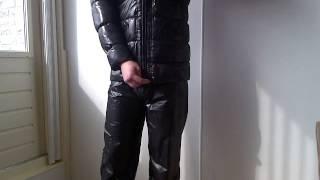 Green Tianyou jacket and PamyGabinchen shiny nylon pants