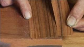 How To Repair Wood Veneer Furniture : How To Match Wood Grain For Veneer Patch