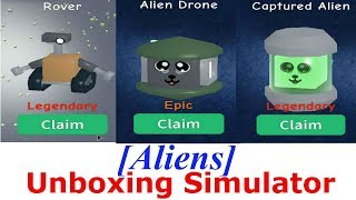 New Area 51 And 2 CODES unboxing simulator Roblox | New Dungeon AND new PET | Update 2.21