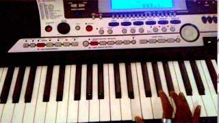 Thendral vandhu theendum podhu -song notes on Keyboard