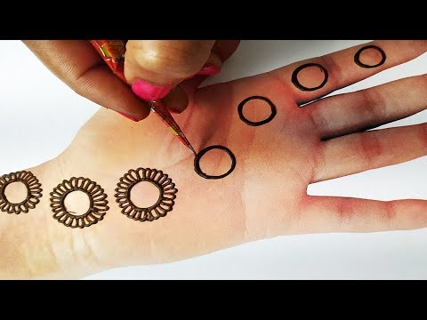 Easy Mehndi Trick - Latest Circle Mehndi Design of Gol Tikki - किसी भी तीज त्यौहार ये मेहँदी लगाएं