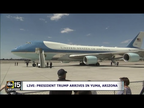 LIVE: President Trump arrives in Yuma, Arizona before speaking at Phoenix Rally