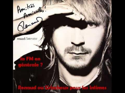 Renaud L'interview A la question la FM en générale   Album Promo 1988