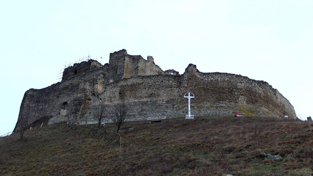 Kapusiansky hrad castle ruins, Presov region, Slovakia