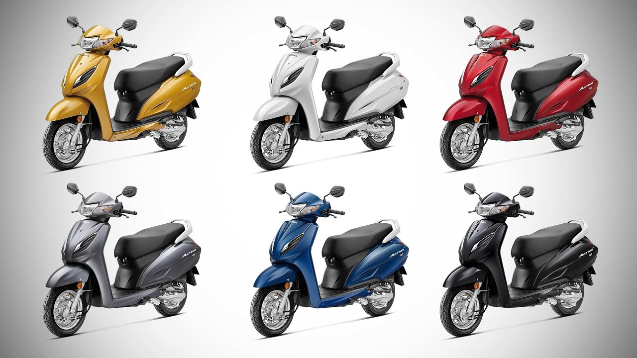 2020 Honda Activa 6g All Colour Options Images Autobics Youtube