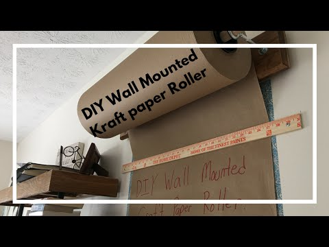 DIY Kraft-Paper Roller Tutorial