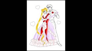Usagi And Mamoru dancing - fast coloring