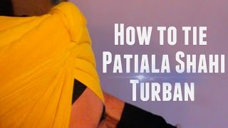 How to tie Patiala Shahi Turban | JAGPREET SINGH | Full HD 2015