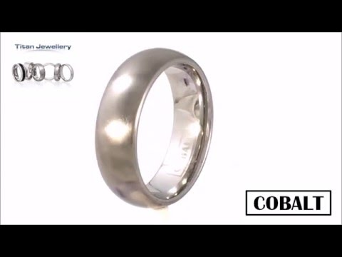 Mens 7mm Brushed Court Cobalt Wedding Ring CCR11